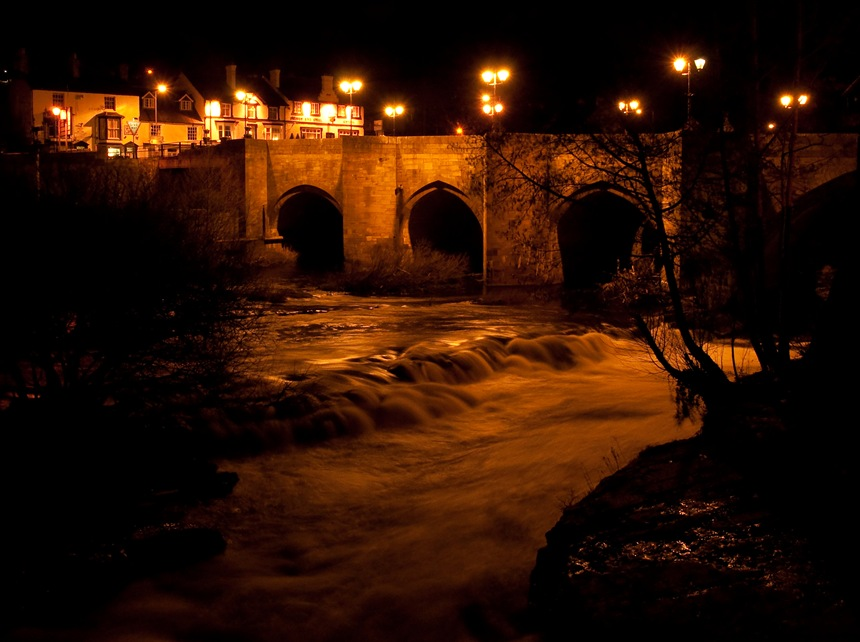 Llangollen at night