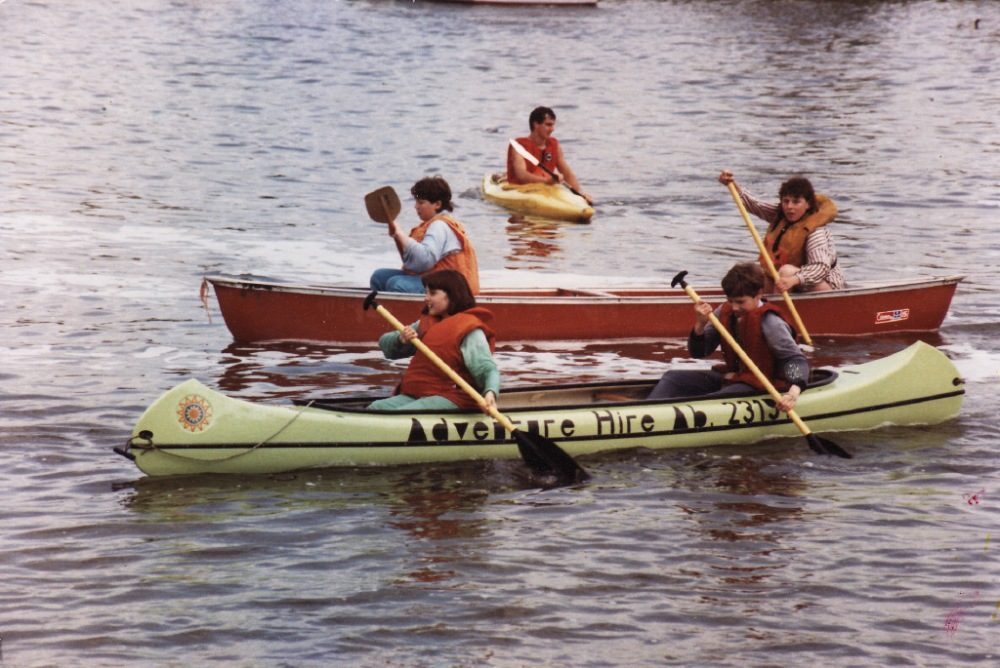 Paddling in the eighties