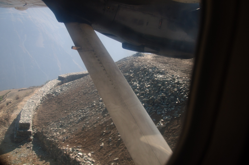 Things on the ground seemed a little close during the flight into the river