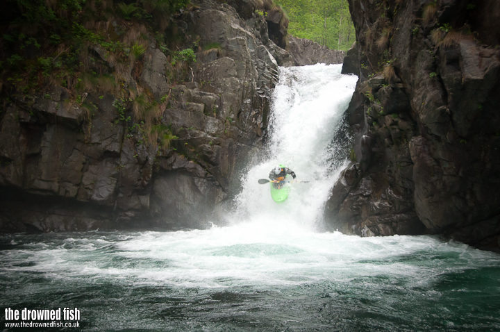 Jethro runs the Landwasser Waterfall
